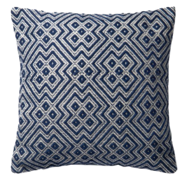 Asha Indoor-Outdoor Pillow Navy Blue.png